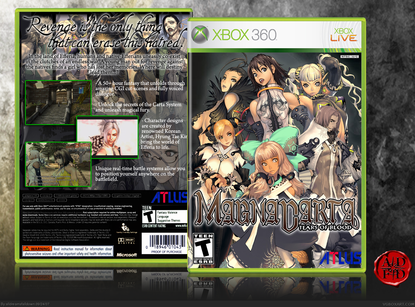 Magna Carta: Tears of Blood Xbox 360 Box Art Cover by ...