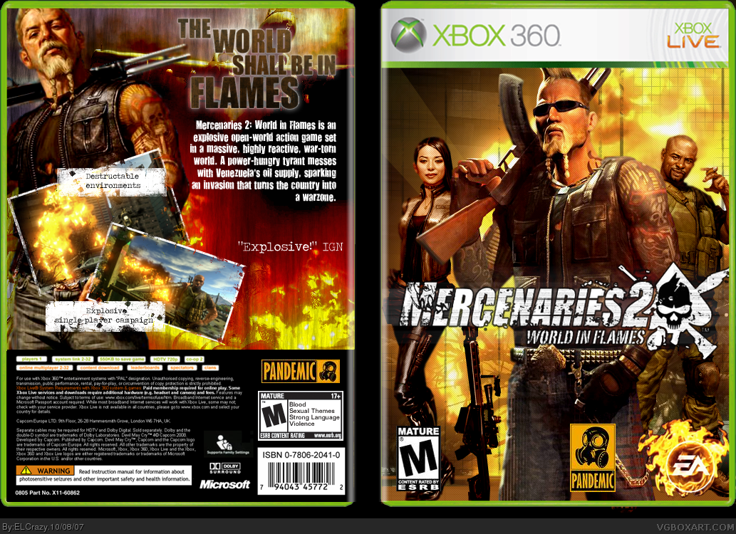 Viewing full size mercenaries 2 world in flames box cover mercenaries 2 world in flames box cover altavistaventures Choice Image
