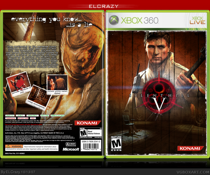 Book Cover Tutorial Xbox One : Silent hill xbox box art cover by elcrazy