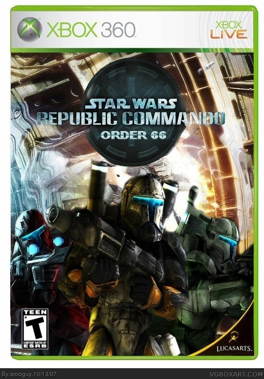 star wars republic commando order 66 xbox 360 box art