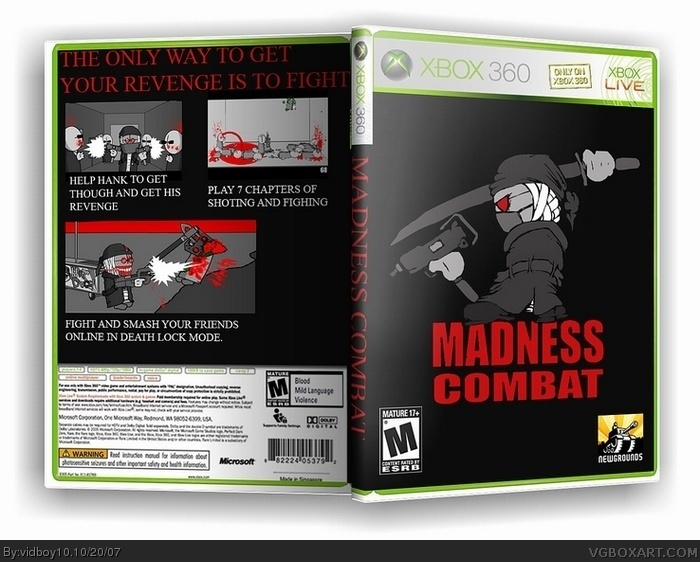 madness combat xbox 360 box art cover by vidboy10