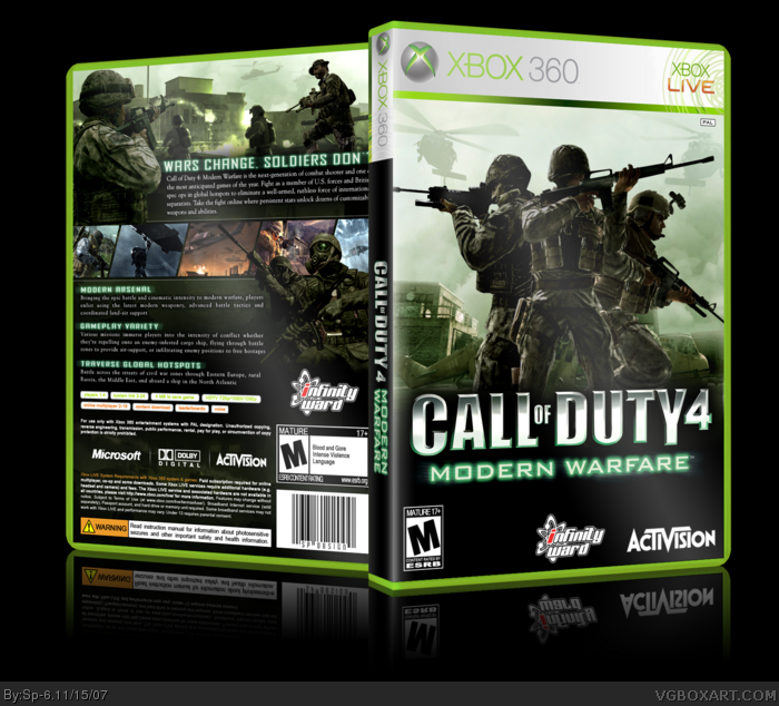 Call of Duty 4: Modern Warfare Xbox 360 Box Art Cover by Sp-6