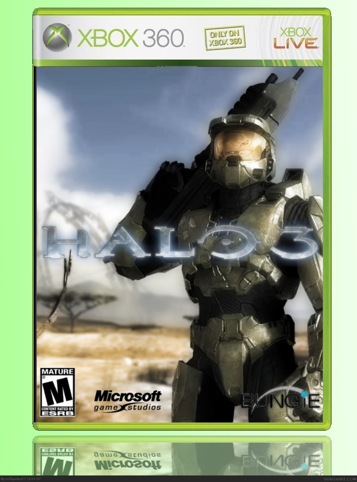 halo 3 xbox 360 box art cover by milkyoreo27