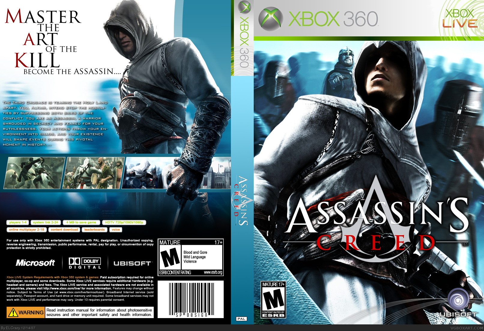 assassins creed xbox 360 box art cover by elcrazy
