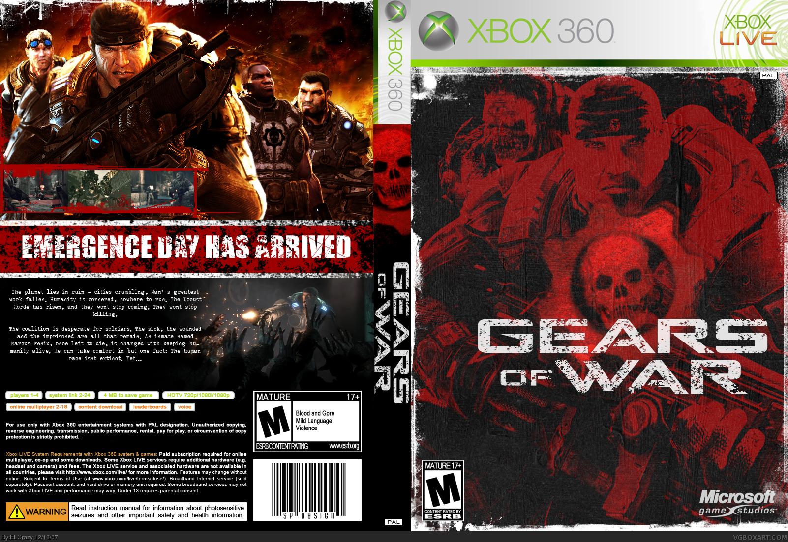 Gears Of War 1 Xbox 360 Cover Wiring Diagrams Ramp Generator Circuit Diagram Tradeoficcom Box Art By Elcrazy Rh Vgboxart Com