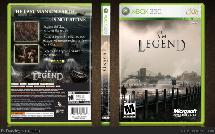 I Am Legend Xbox 360 Box Art Cover by Dancinguy