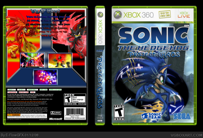 Xbox 360 » Sonic The Hedgehog Project: CHAOS Box Cover