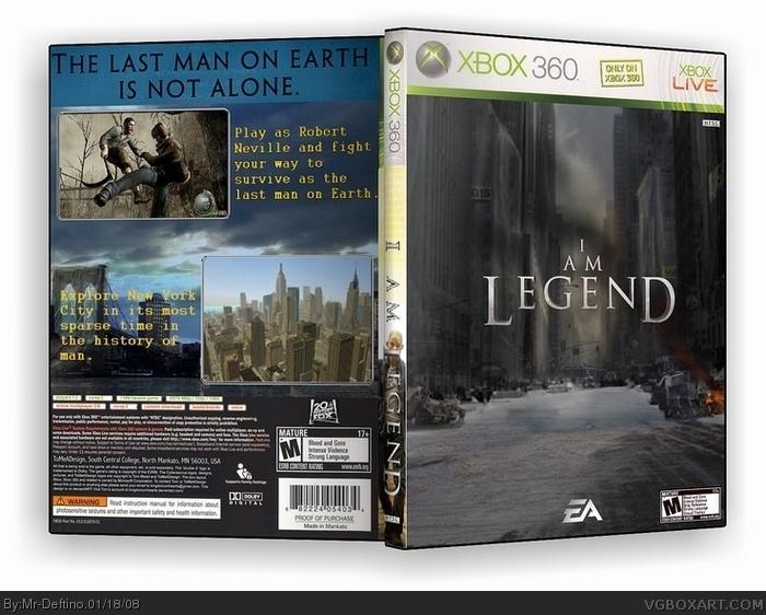 I Am Legend Xbox 360 Box Art Cover by Mr-Deftino