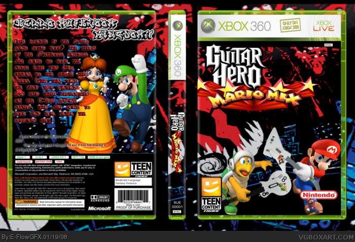 Guitar Hero: Mario Mix Xbox 360 Box Art Cover by E-FlowGFX