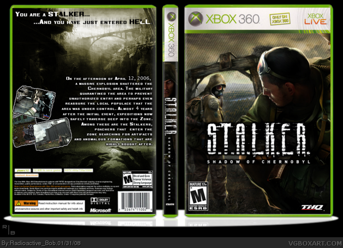 S.T.A.L.K.E.R. Shadow Of Chernobyl box art cover