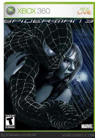 Spiderman 3 Xbox 360 Box Art Cover by VGAddict
