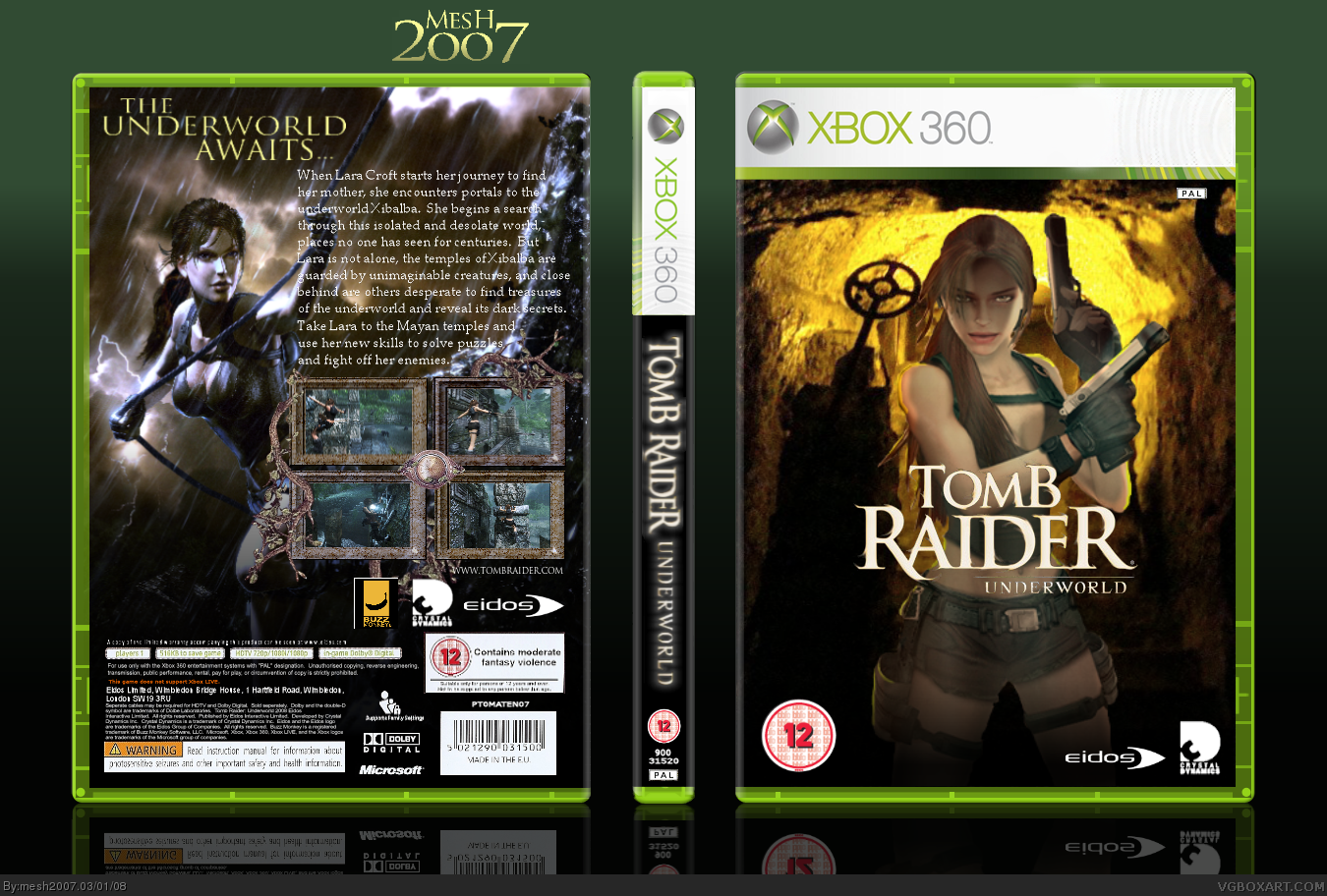 Tomb Raider: Underworld Xbox 360 Box Art Cover by mesh2007