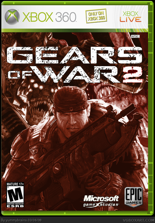 Gears Of War 2 Xbox 360 Box Art Cover By Yummybrains