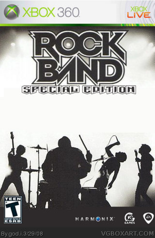 Rock Band box cover