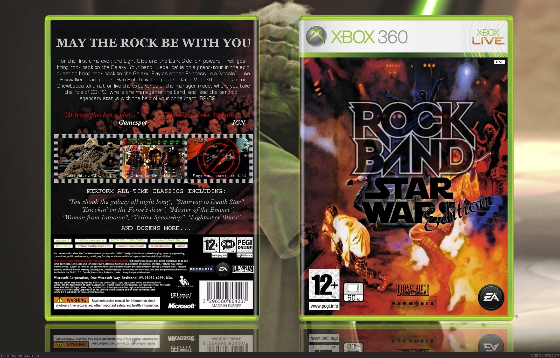 Rock Band: Star Wars Edition box cover
