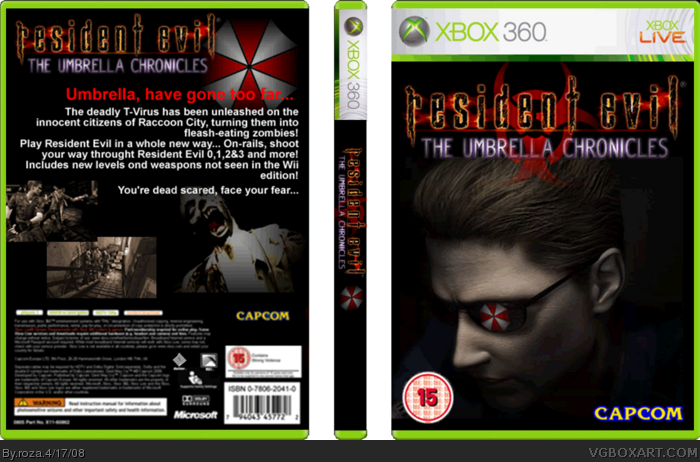 Resident Evil: The Umbrella Chronicles box art cover
