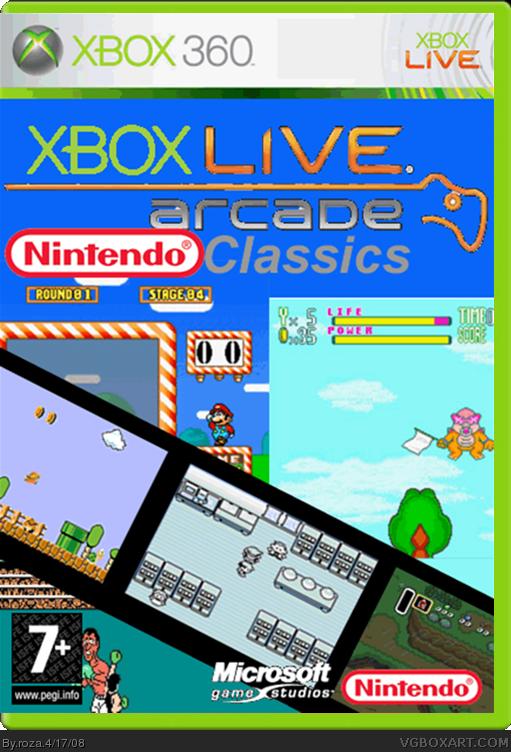 Fun Games For Xbox Original : Xbox live arcade nintendo classics box art cover