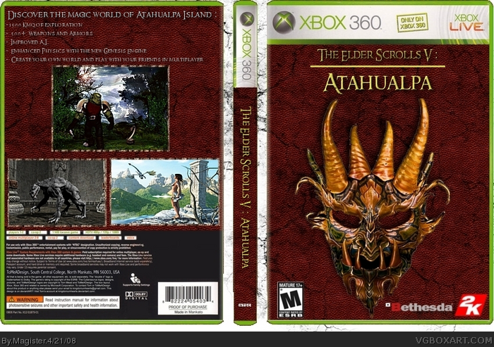 The Elder Scrolls V: Atahualpa box art cover