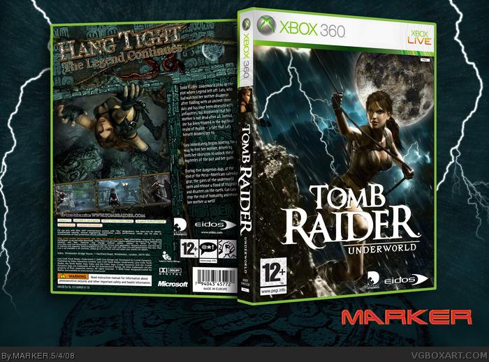 Tomb Raider Underworld Xbox 360 Box Art Cover By Marker