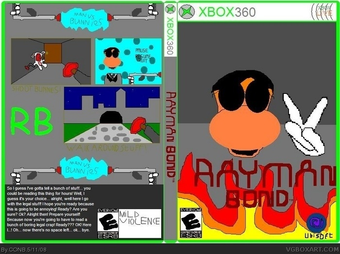 Rayman bond box art cover