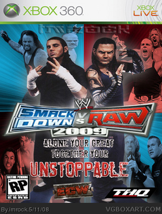 WWE Smackdown vs Raw 2009 box cover