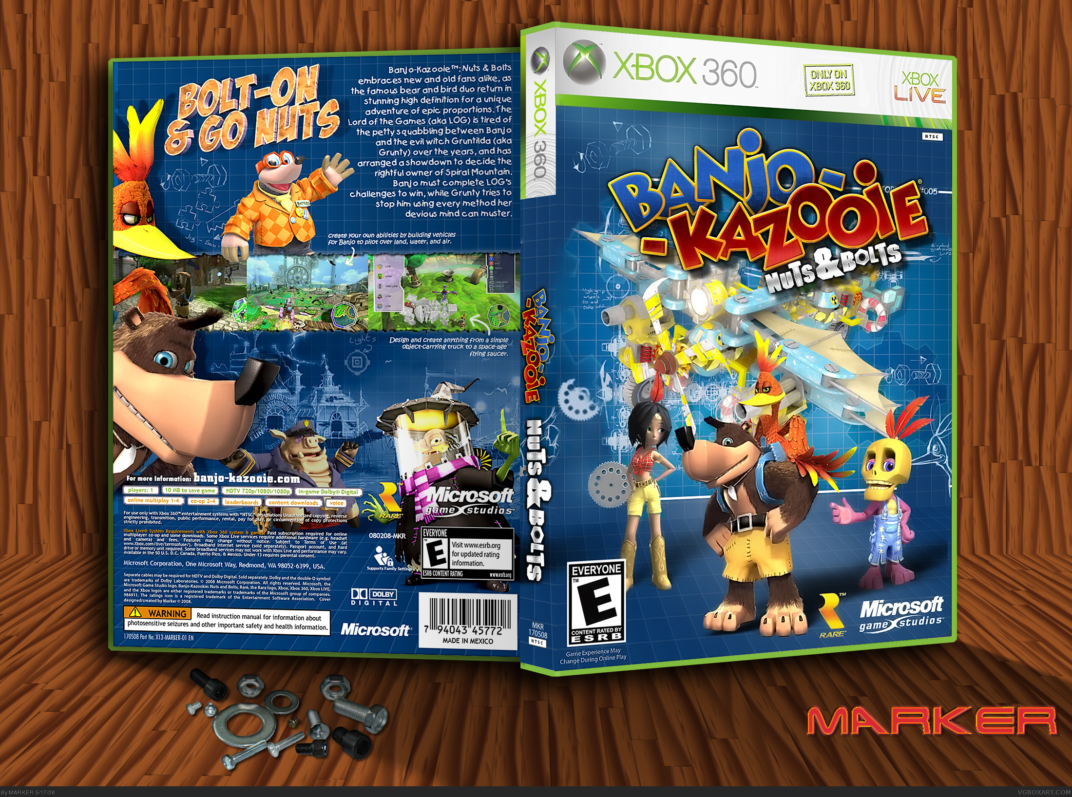 Banjo-Kazooie: Nuts & Bolts box cover