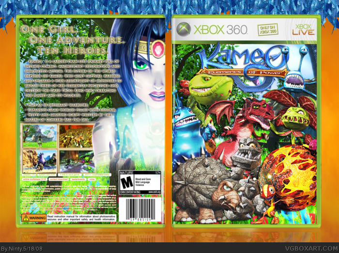 Kameo Elements Of Power Xbox 360 Box Art Cover By Ninty