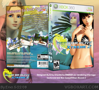 Xbox 360 » Dead or Alive Xtreme 2 Box Cover