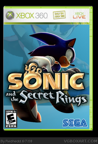 Sonic and The Secret  Rings box cover