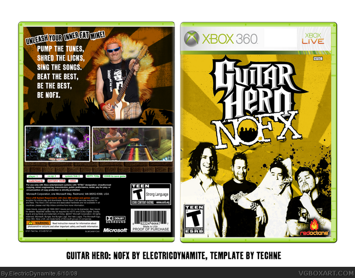 Guitar Hero Nofx Xbox 360 Box Art Cover By Electricdynamite