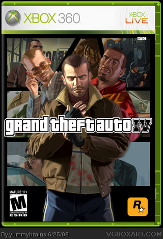 Grand Theft Auto IV box cover