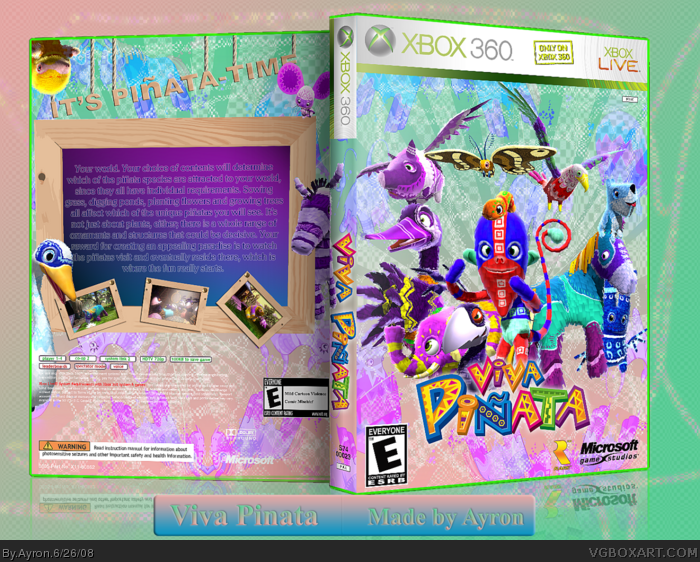Viva Pinata box art cover
