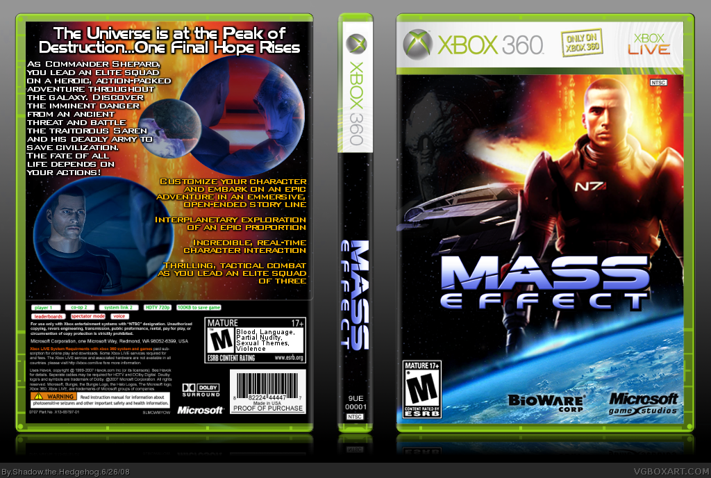Mass Effect box cover