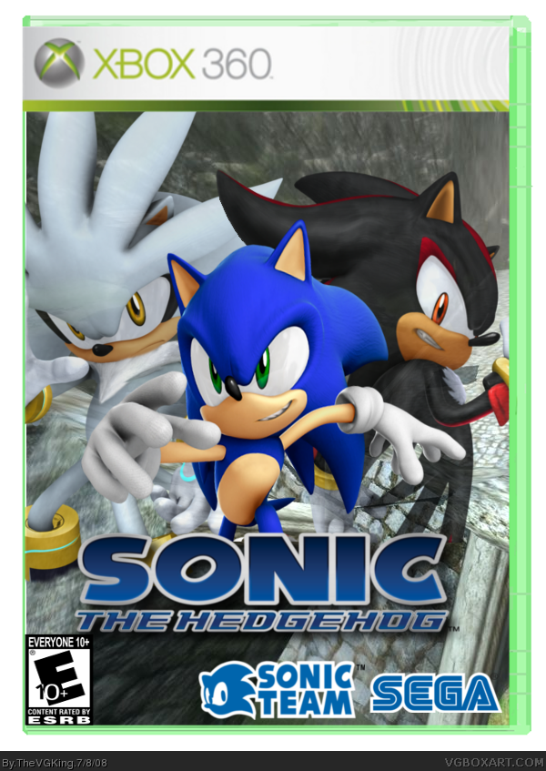 Sonic The Hedgehog Xbox 360 Box Art Cover By Thevgking