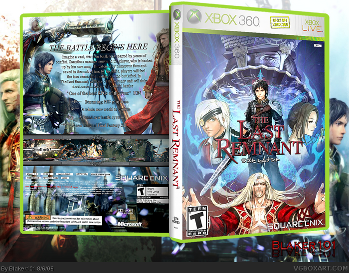 The Last Remnant Xbox 360 Box Art Cover By Blaker101