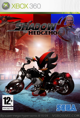 Shadow The Hedgehog Xbox 360 Box Art Cover By Super Mega