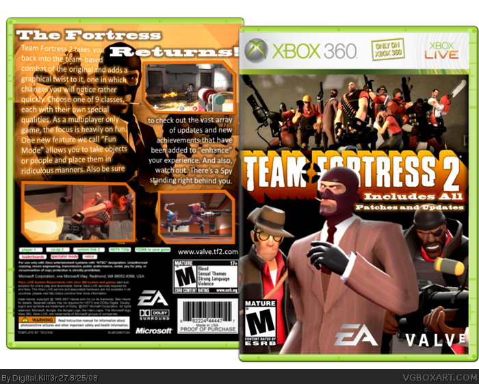 Team Fortress 2 PlayStation 3 Box Art Cover by It&#39-sAMeMario!