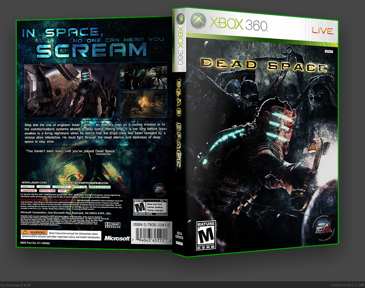 Viewing full size Dead Space box cover
