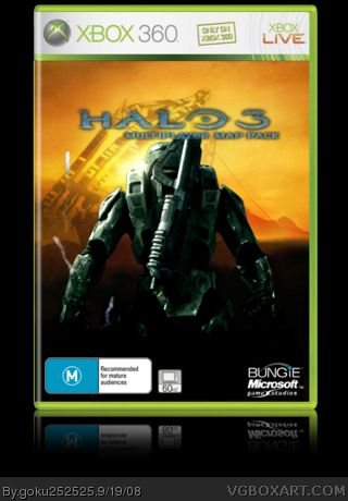 Halo 3 Multiplayer Map Pack Xbox 360 Box Art Cover by goku252525