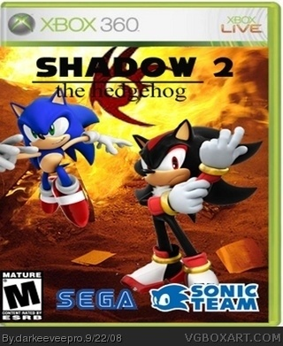 Shadow The Hedgehog 2 Burning Past Xbox 360 Box Art Cover By Darkeeveepro
