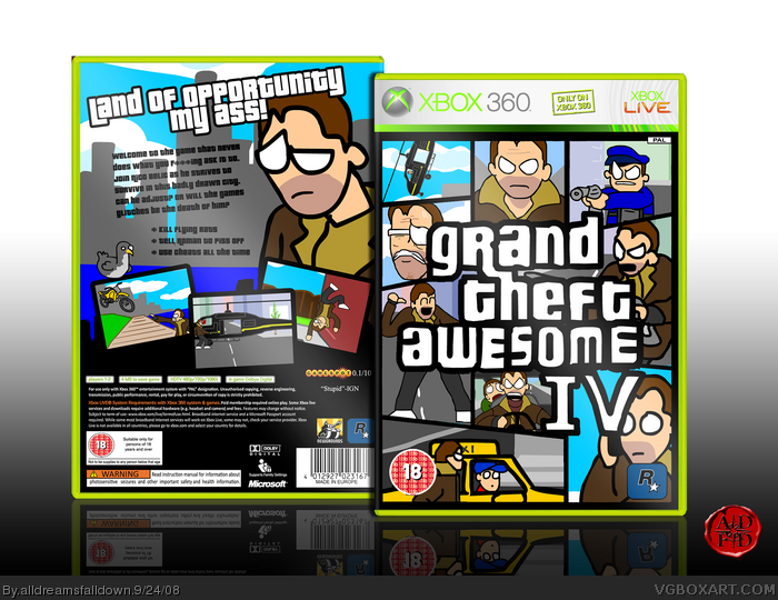 Grand Theft Awesome IV box art cover