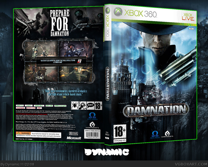 Damnation box art cover
