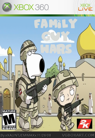 Check out a few multiplayer screens and the box art for family guy.