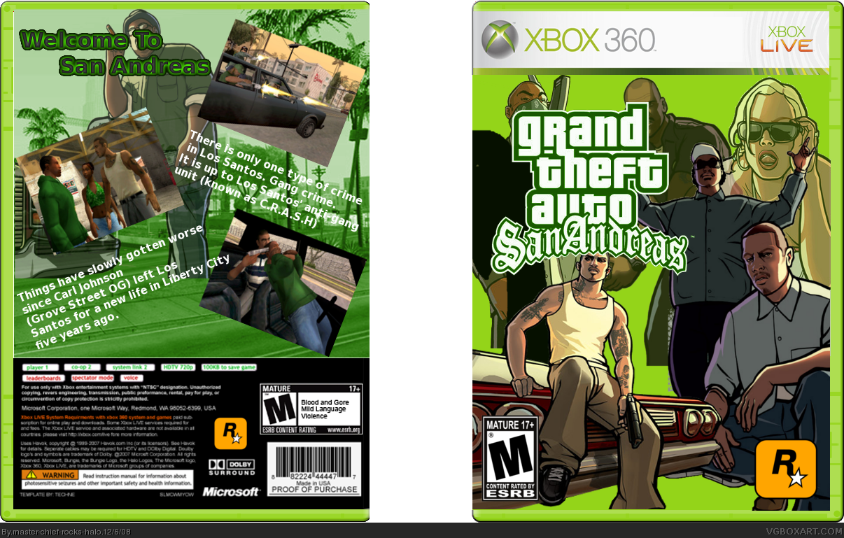 Xbox 360 » Grand Theft Auto: San Andreas Box Cover