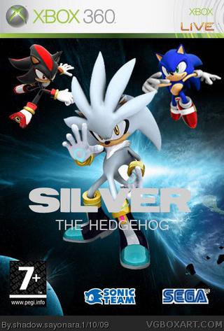 Silver The Hedgehog Xbox 360 Box Art Cover by shadow sayonara