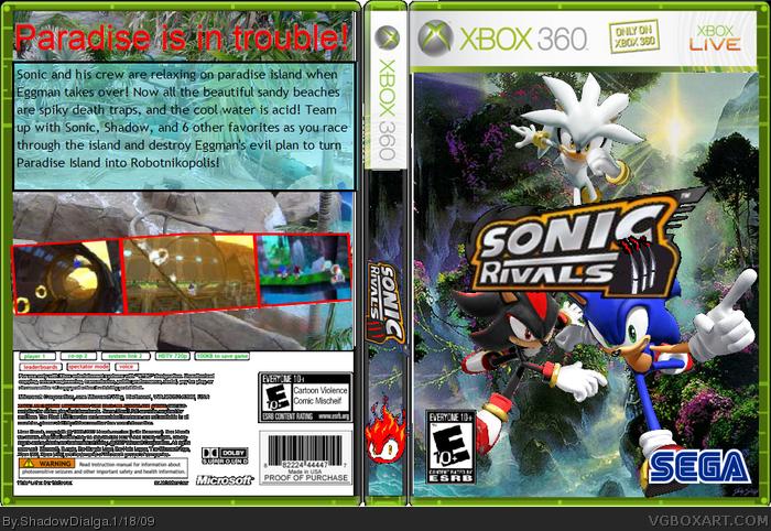 Sonic Rivals 3 Paradise Panic Xbox 360 Box Art Cover By Shadowdialga