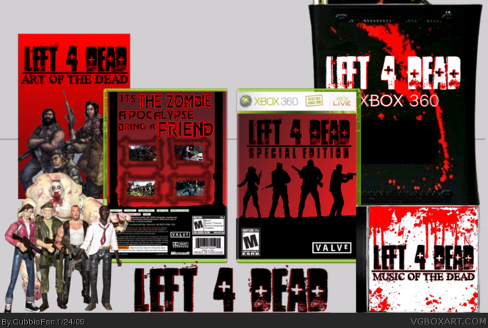 Left 4 Dead Bundle Xbox 360 Box Art Cover by CubbieFan