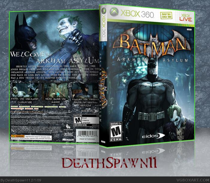 Xbox 360 » Batman: Arkham Asylum Box Cover