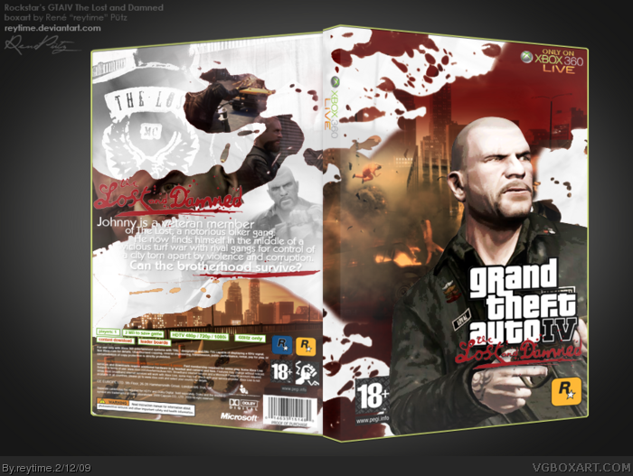 Xbox 360 » Grand Theft Auto IV: The Lost and Damned Box Cover ? ?