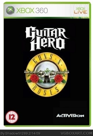 Guitar Hero Guns N Roses Xbox 360 Box Art Cover By
